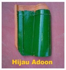 4. Genteng Jatiwangi Morando Glazur hijau adoon