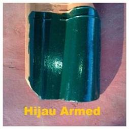 5. Genteng Jatiwangi Morando Glazur hijau adoon