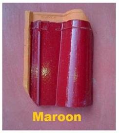 6. Genteng Jatiwangi Morando Glasur merah maron