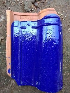 8. Genteng Jatiwangi Morando Glazur biru